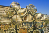 Stacks of Lobster Traps, Muscongus Bay in New Harbor, Me Photographic Print