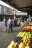Fresh Produce with Shoppers at Pike Place Public Farmers Market, Seattle, Wa Photographic Print