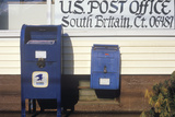 U.S. Mailboxes in Front of Post Office, South Britain, CT Photographic Print