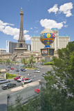 Paris Casino and Eiffel Tower Viewed from Bellagio Casino in Las Vegas, NV Photographic Print