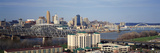Panoramic Afternoon Shot of Cincinnati Skyline, Ohio and Ohio River as Seen from Covington, Ky Photographic Print