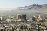 Panoramic View of Skyline and Downtown El Paso Texas Looking Toward Juarez, Mexico Photographic Print
