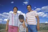 Portrait of a Navajo Family, Winslow, AZ Photographic Print
