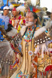 Native Americans in Full Regalia Dancing at Pow Wow Photographic Print