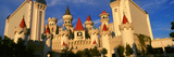 Panoramic View of the Excalibur Hotel and Casino, Las Vegas, Nv at Sunset Photographic Print