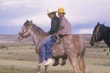 Native American Teenagers on Horseback, NM Photographic Print