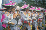 Outrageous Marching Band Playing Banjos at the Doo-Dah Parade, Pasadena, CA Photographic Print