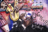 Detail of Mural Depicting Music Scene in Nashville, Tn Photographic Print