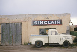 Abandoned Gas Station and Antique Pickup Truck, NM Photographic Print
