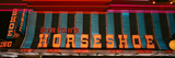 Panoramic View of Horseshoe Casino and Neon Sign in Las Vegas, NV Photographic Print