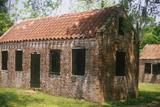 Brick Slaves Quarters at the Boone Hall Plantation, Charleston, Sc Fotografie-Druck