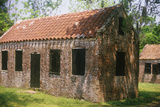 Brick Slaves Quarters at the Boone Hall Plantation, Charleston, Sc Photographic Print