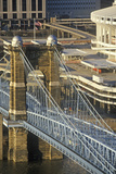 Roebling Suspension Bridge over the Ohio River, Cincinnati, Oh Photographic Print