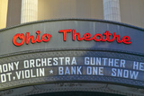Ohio Theater Marquee Theater Sign Advertising Columbus Symphony Orchestra in Downtown Columbus, Oh Photographic Print