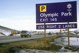 Olympic Traffic Sign During 2002 Winter Olympics, Salt Lake City, Ut Photographic Print