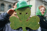 A Cardboard Cutout of a Shamrock at the 1987 St. Patrick's Day Parade, Ny City Photographic Print