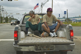 Workers in Pickup Truck Come Home from Job in Central Georgia Photographic Print