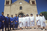 High School Graduates in Front of the San Miguel Mission, Socorro, NM Photographic Print