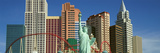 Panoramic View of New York New York Hotel with Statue of Liberty at Sunrise, Las Vegas, NV Photographic Print