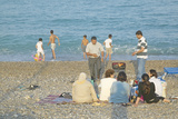 The Beach Near Antibes, France Photographic Print