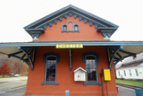 Railroad Station in Chester, VT Photographic Print