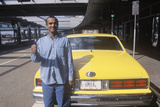 Pakistani Taxi Cab Driver at the Airport, NY Photographic Print