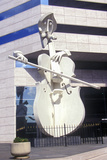 Sculpture of Cello Player in Houston Tx Photographic Print