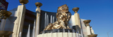 Panoramic View of Mgm Lion and Mgm Grand Hotel in Las Vegas, NV Photographic Print
