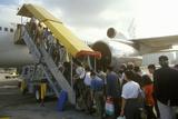 Executives Boarding a Passenger Jet in Hong Kong Photographic Print