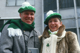 A Couple Dressed Warmly to Watch the 1987 St. Patrick's Day Parade, Ny City Photographic Print