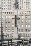 Cross at World Trade Towers Memorial Site for September 11, 2001, New York City, NY Photographic Print