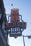 Neon Sign Outside Bb King's Blues Club at Sunset, Memphis, Tn Photographic Print