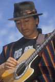 Street Musician Playing the Guitar, Los Angeles, CA Photographic Print