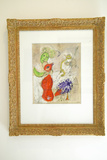 Painting by Marc Chagall in Gallery in Saint Paul De Vence, France Photographic Print
