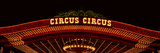 Panoramic View of Neon Lights of Circus Circus Casino, Las Vegas, NV Photographic Print