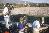 Television CAmera Crews Filming the Rose Bowl Game, Pasadena, CA Photographic Print