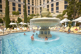 Large Swimming Pool with Swimmers at Bellagio Casino in Las Vegas, NV Photographic Print