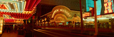 Panoramic View of Golden Nugget Casino and Neon Sign in Las Vegas, NV Photographic Print