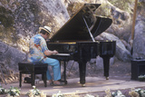 Jazz Pianist, Roger Kellaway, Performing at an Outdoor Festival, Ojai, CA Photographic Print