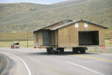 Relocated House on Highway, Route 89, Ut Photographic Print