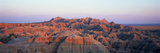Sunset Panoramic View of Mountains in Badlands National Park in South Dakota Photographic Print