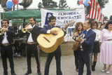 A Mariachi Band Performs for the 1992 Democratic CAmpaign, East Los Angeles, CA Photographic Print