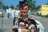 A Scottish Woman Holding Dolls at Scottish Pride Day Festival, Orange County, CA Photographic Print