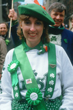 A Young Woman Dressed as Irish for the 1987 St. Patrick's Day Parade, Ny City Photographic Print