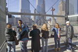 Crowds View Cross at World Trade Towers Memorial Site for September 11, 2001, New York City, NY Photographic Print