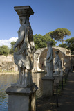 Statues of the Caryatides in the Canopus at Hadrian's Villa, Tivoli Photographic Print