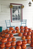 Tomatoes and Two Chairs on Porch in Rural Virginia Photographic Print