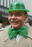 A Man Dressed in Green Derby and Bow-Tie for the St. Patrick's Day Parade, Ny City Photographic Print