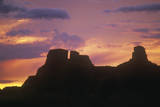 Chaco Canyon Indian Ruins at Sunset, Northwestern NM Photographic Print