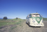 A Volkswagon Van Parked on the Roadside, CA Photographic Print